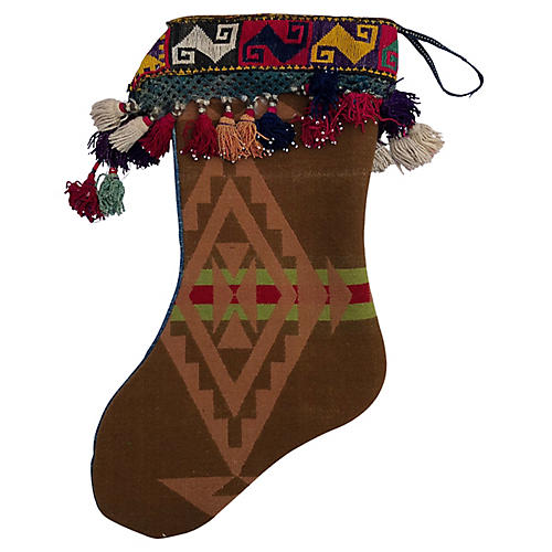 Vintage Pendleton Blanket Xmas Stocking