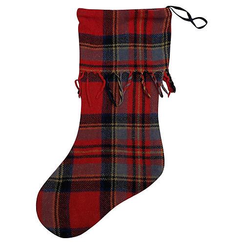 Scottish Plaid Christmas Stocking
