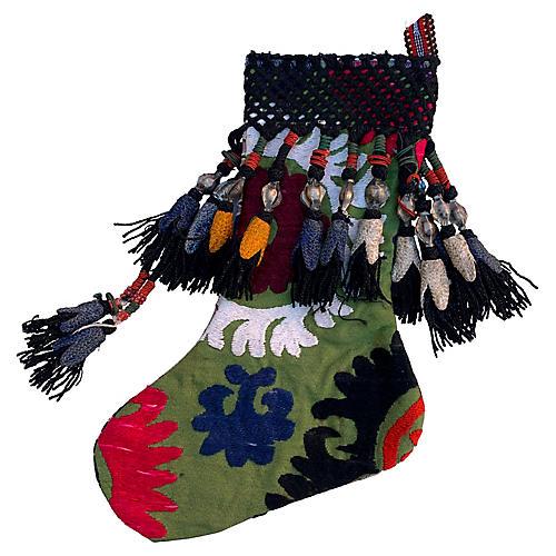 Antique Suzani Christmas Stocking