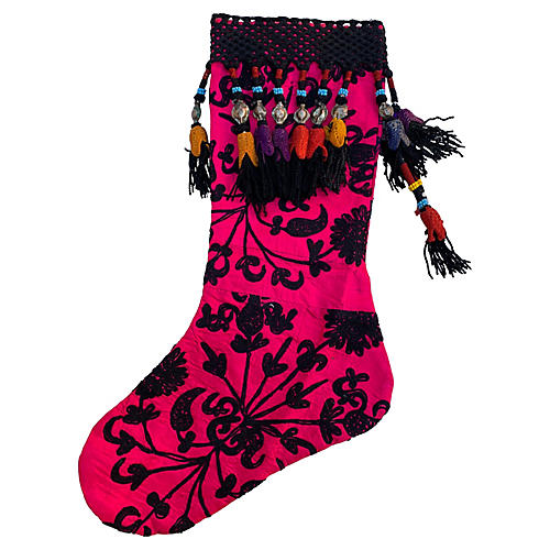Antique Suzani Christmas Stocking