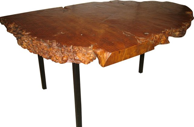 Burl-Wood Cocktail Table