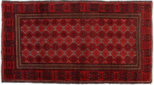 """Persian Baluch, 3'4"""" x 6'1"""""""