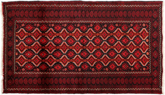 """Hand-Knotted Baluch, 3'6"""" x 6'1"""""""