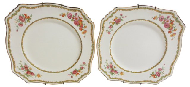 Royal Winton Square Plates, Pair