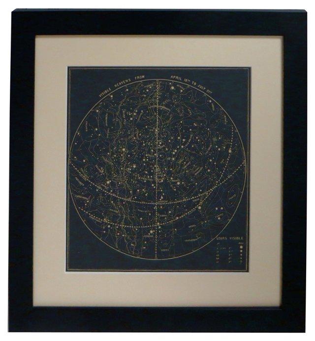 19th-C. Visible Heavens Map