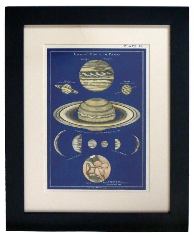 19th-C. Saturn  Print