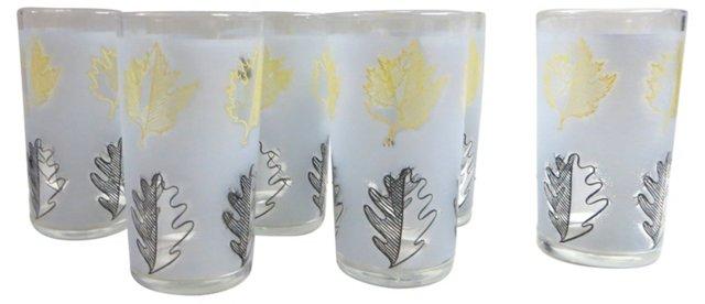 Libbey Leaf Glasses, S/6