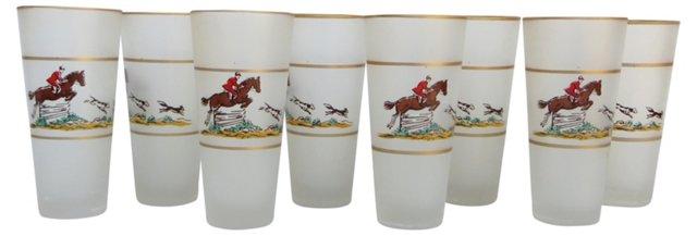 1950s Equestrian Glasses, S/8
