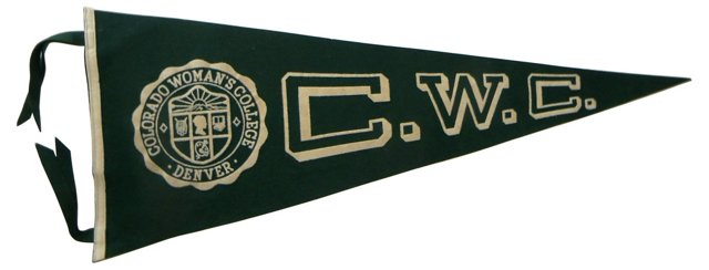 Colorado Women's College Pennant