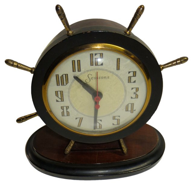Sessions Nautical     Clock