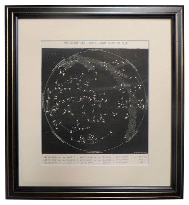 19th-C. Night Sky           Map