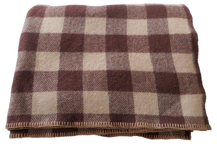 Brown Buffalo Check Blanket