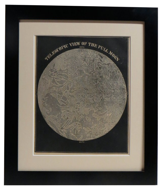19th-C. Full Moon Print