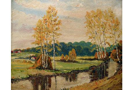 Impressionist Autumn Landscape