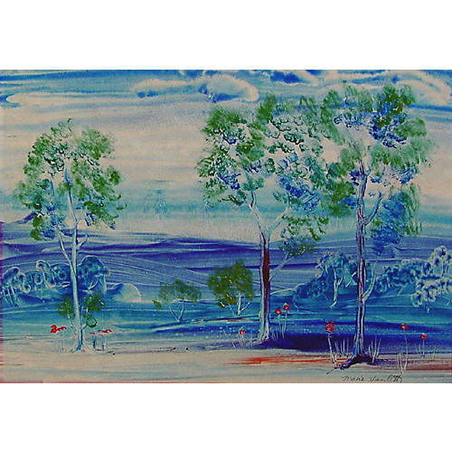 Bold Blue Landscape
