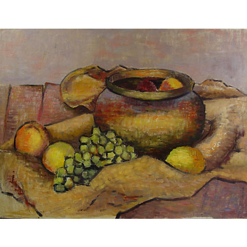 Rustic Still Life w/ Grapes