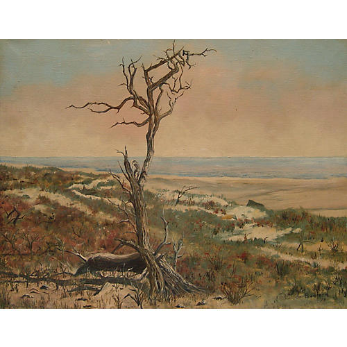 Coastal Landscape w/ Lone Tree