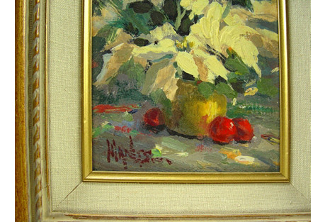 Impressionist Still Life Flowers & Fruit