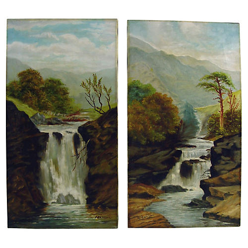 1890s Waterfall Landscapes, S/2