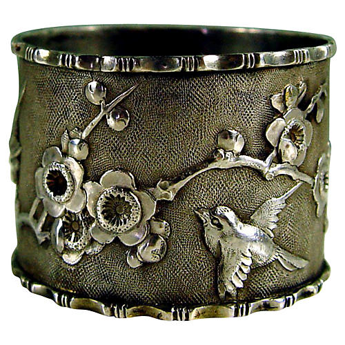 Japanese Sterling Silver Napkin Ring