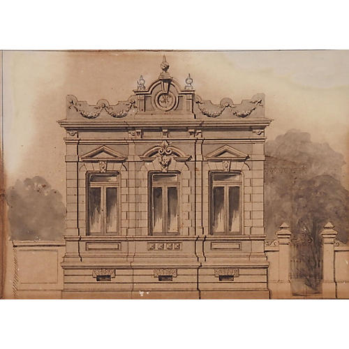 Architectural Rendering, C. 1900