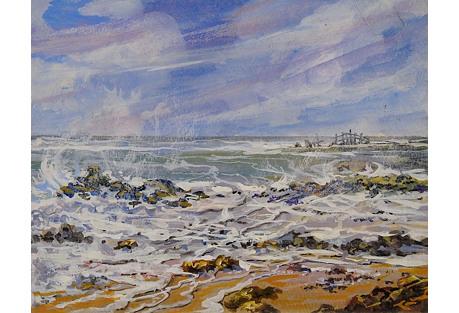 Small Seacape by Simon Michael