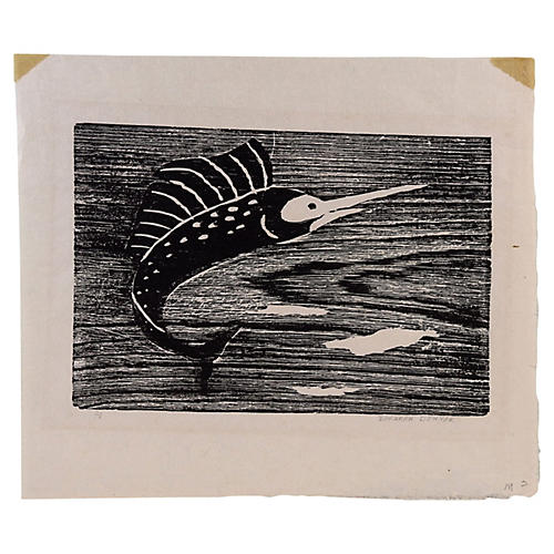 Sailfish Wood Block
