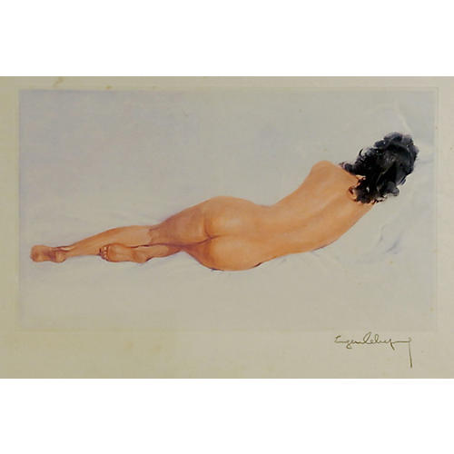 1950s Nude Lithograph