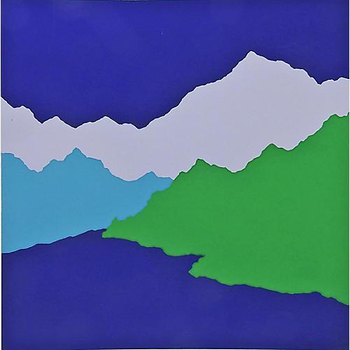 Color Block Mountains Serigraph