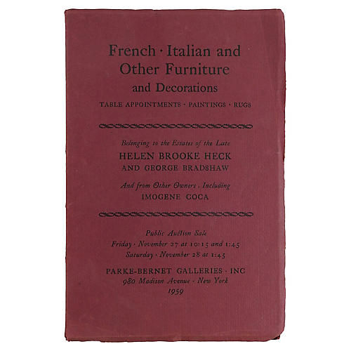 French, Italian and Other Furniture