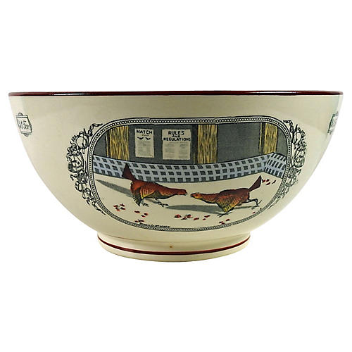 English Adams Rooster Bowl