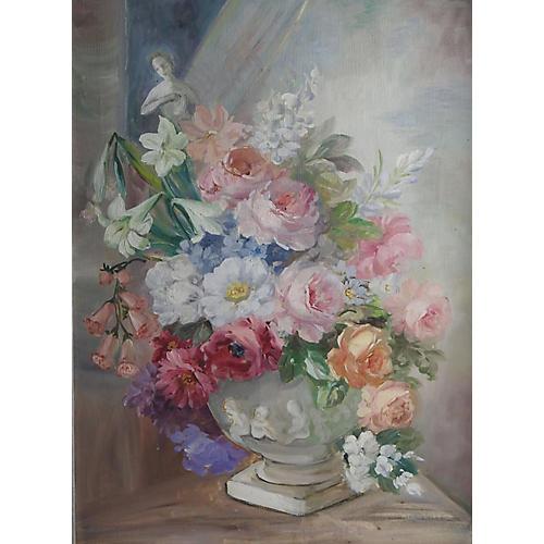 Pink Roses Still Life, C. 1950