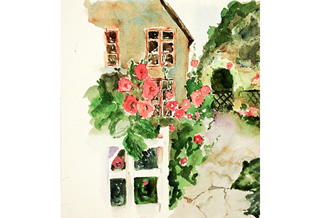 English Garden Watercolor