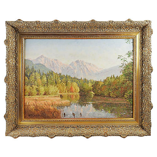 Mountain & Lake Landscape