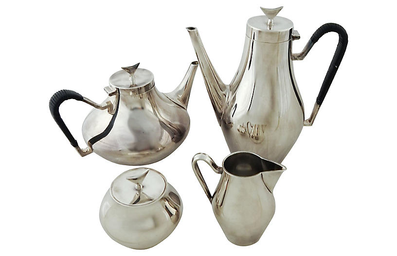 Modernist Tea & Coffee Set, 4 Pcs