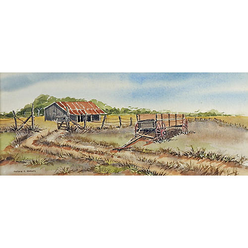 Old Texas Ranch Landscape