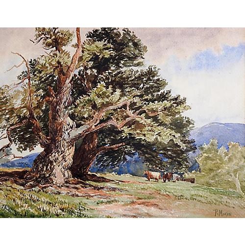 Pastoral Landscape by P. Moran, C.1890