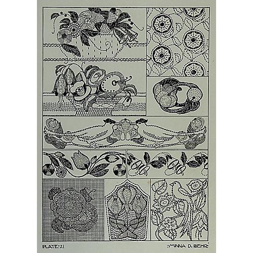 Textile Design by Minna D. Behr, C.1920