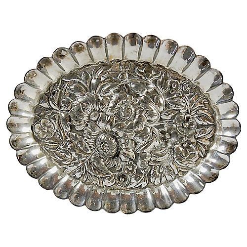 Repoussé Silver-Plate Dish