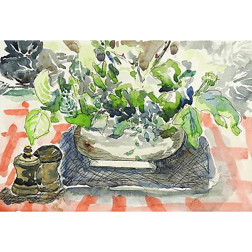 Modernist Still Life Watercolor