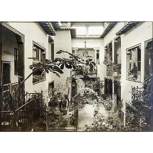 Tropical Interior Courtyard Photograph