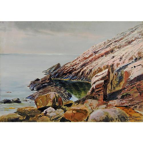 Swedish Seascape by L. Schwerin