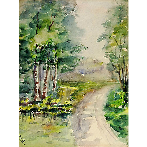 Country Road Watercolor
