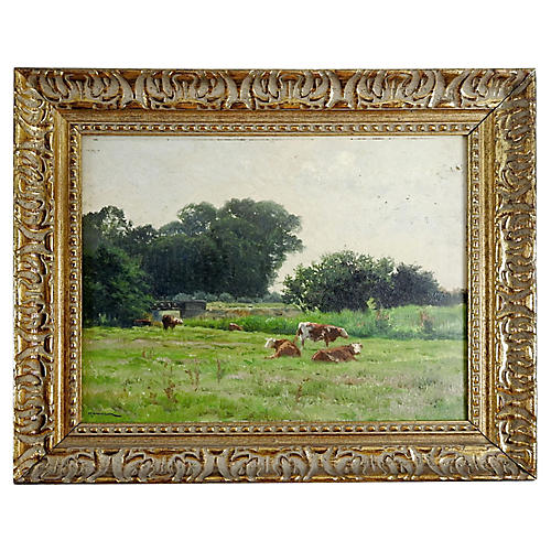 Pastoral Landscape by Edouard Hamman