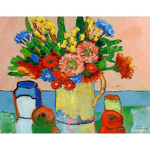 Modernist Floral Still Life