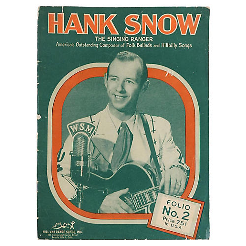 Hank Snow Music Folio, 1951