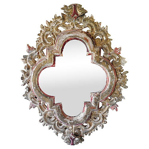 Antique Hand-Carved Mirror