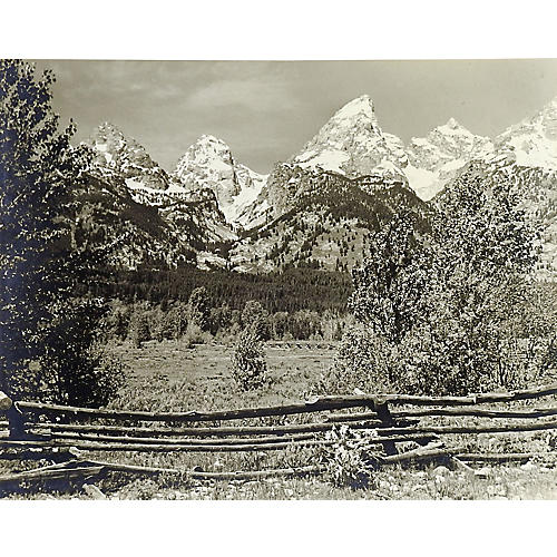 1950s Photograph of Grand Teton's