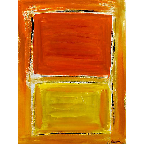 Orange & Yellow Abstract