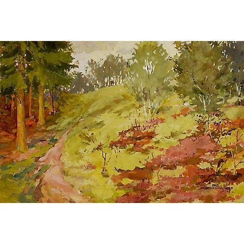 Impressionist Forest Landscape, 1945